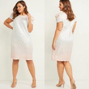 Lane Bryant metallic sheath dress NWT